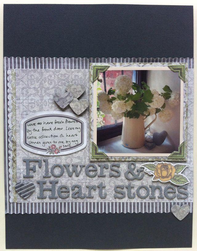 SBM74fg Flowers & heart stones