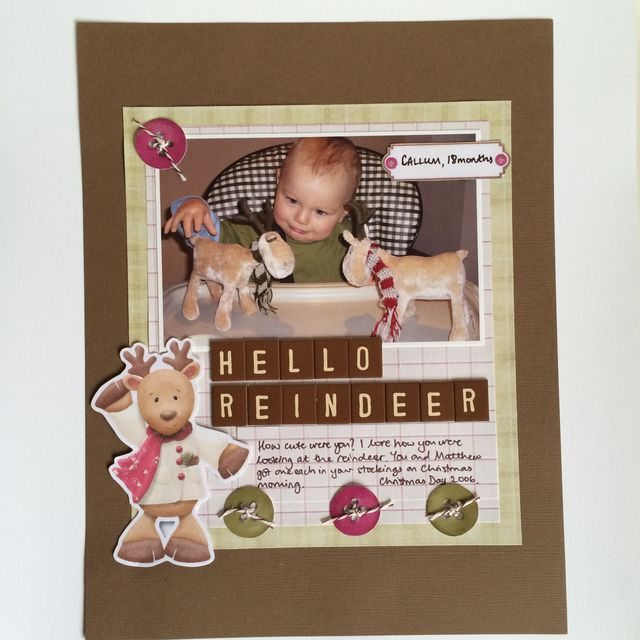 SBM77fg Hello Reindeer